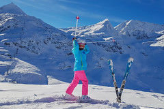 Šťastná lyžařka...