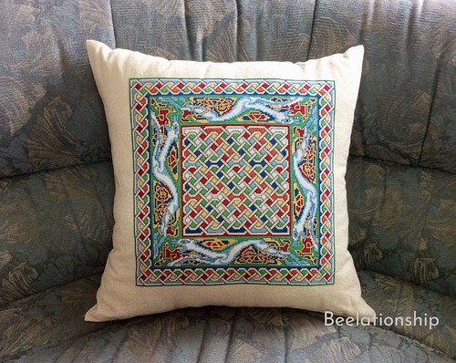 Celtic Dog Cushion 2   by Beelationship Embroidery Studio