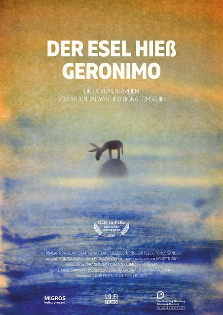 Maria Zaikina, poster for a documentary Der Esel hieß Geronimo / A Donkey Called Geronimo by Arjun Talwar and Bigna Tomschin (2018), music by Daniel Sinaisky