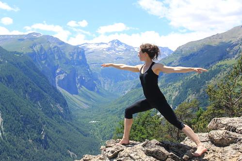 Yoga en bergwandelen, Haute Savoie