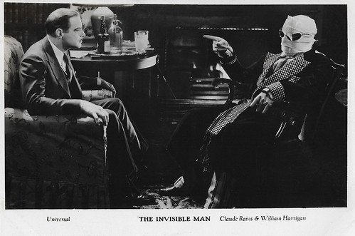 European Film Star Postcards The Invisible Man 1933
