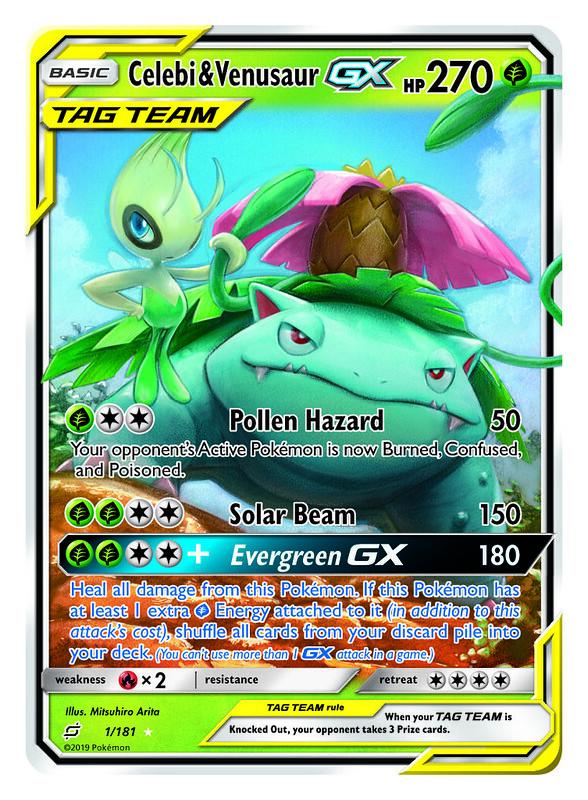 TAG TEAM Pokémon-GX_Celebi & Venusaur