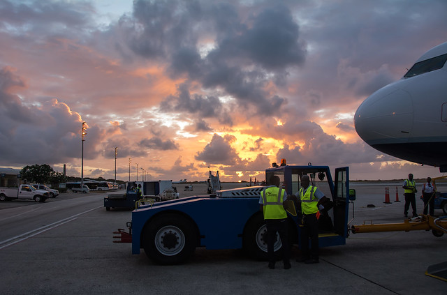 Airport land crew, Barbados airport