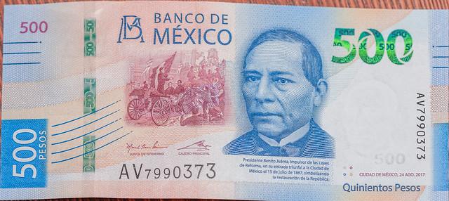 New MXN $500