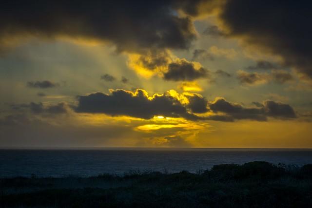 Peekaboo sunset