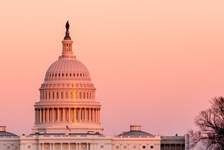 Sun Setting on the US Capitol Dome in Mid December | by John Brighenti