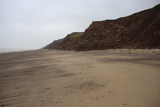 The beach at Holmpton, Yorkshire