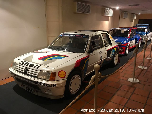Peugeot 205 Rally Car displayed at Palais Princier De Monaco
