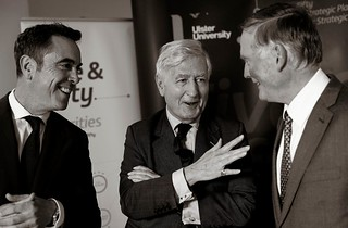 James Nesbitt Chris Moran John Hunter Ulster Univ | by arthur.strathearn