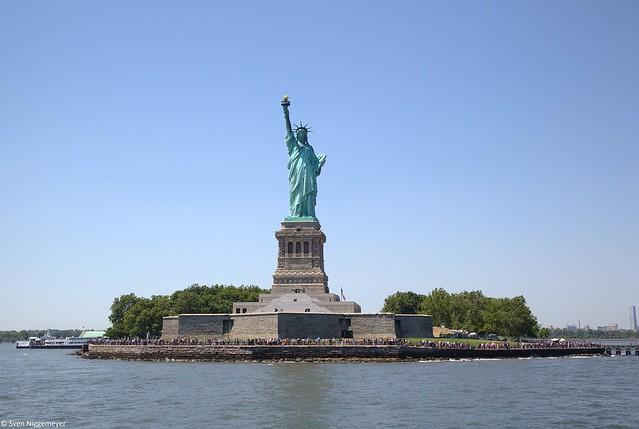Freiheitsstatue in New York am 30.06.18