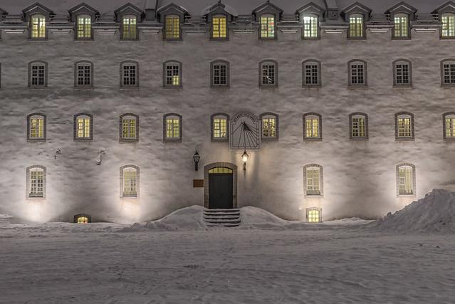 Seminary in winter night
