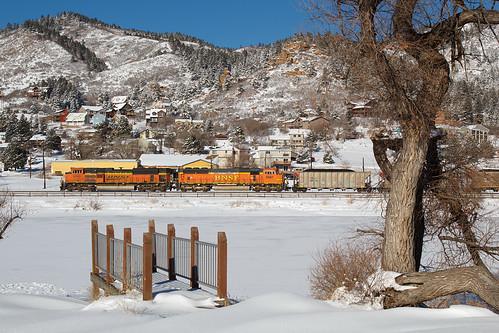 bnsf bnsf9266 emd sd70ace palmerlake colorado jointline rampartrange train railroad palmerdivide