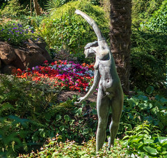 Figure in the rock and water garden
