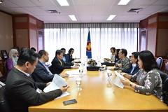 Courtesy call by Mr. Suriya Chindawongse, Director General, Asean Thailand National Secretariat