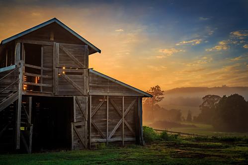 barn clouds farm grass hills landscape nsw sunrise sun
