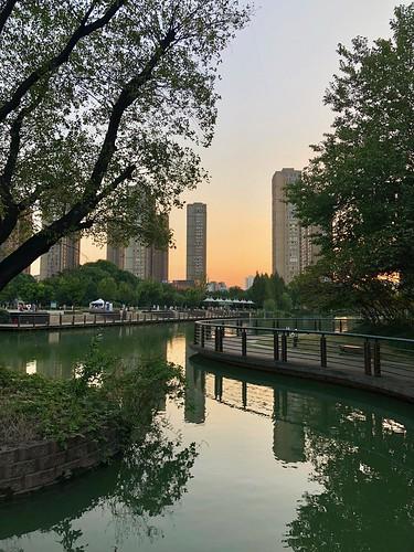 china xintiandi changzhou dusk