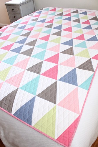 Vintage Sheet Triangle Quilt   by smithsoccasional