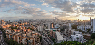 Hong Kong Magic Hour Panorama   by mactopia