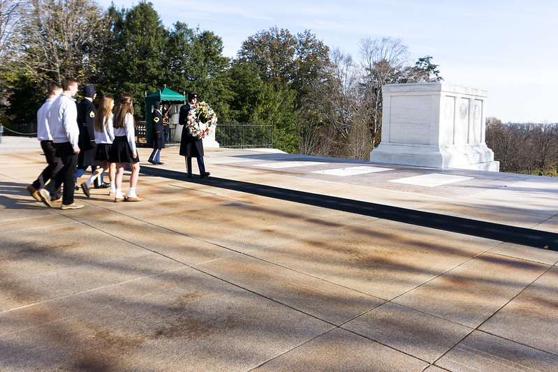 Wreath Laying Ceremony at the Tomb of the Unknown Soldier, Arlington National Cemetery, Arlington, Va., Nov. 2018