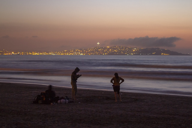 Playa Peñuelas (beach) at sunset, La Serena, Coquimbo Region, Chile 2