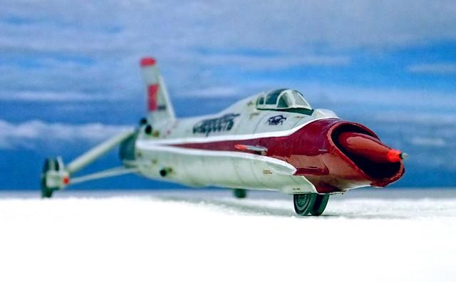 "1:72 Chardiv Laboratory of High-Speed Automobiles ChADI 9-II ""скорость"" experimental high speed/land speed record vehicle (final form); Lake Baskunchak (Soviet Union), August 1989 (Whif/kitbashing)"