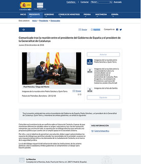 18l20 Comunicado oficial Moncloa tras encuentro Sánchez Torra   by jpquino
