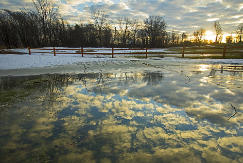 spring springfever fever springtime melt melting snow thaw reflection morning sunrise beautiful nature landscape outdoors canon 2019 home