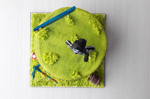 Fortnite cake   by blueeye®