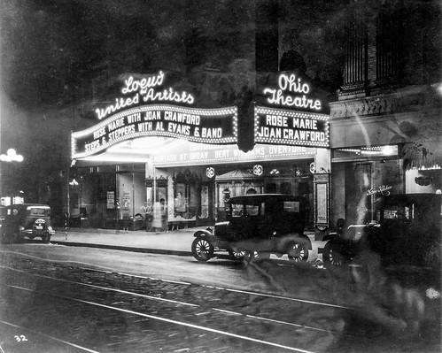 joancrawford photo night movietheatre building loc libraryofcongress neon columbus marquee oh ohio sign theatre kocojim unitedstates us