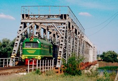 Südzufuhrbahn / Southern Feeder Railway: TU2-274 on the South Bug bridge west of Hajvoron