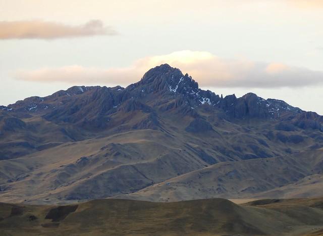 Laramani Larama mountains Peru at sunset