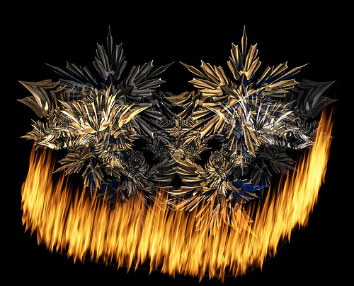 Playing with fractals and adding fire.