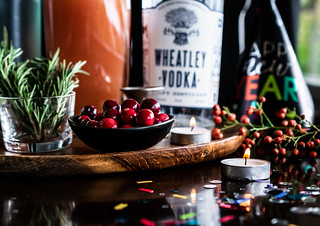 cranberries and rosemary are the perfect holiday cocktail garnish | by Husbands That Cook