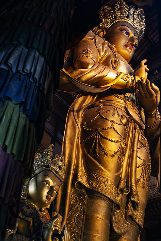 The Beautiful Bodhisattva Statue At Gandan Monastery, Ulaanbatar