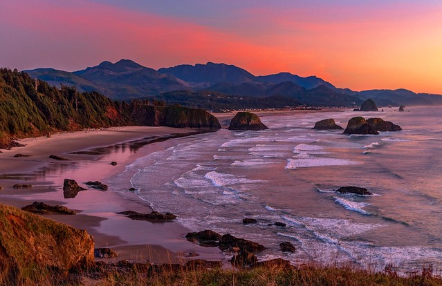 Cannon Beach Sunset Colors