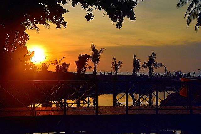 Sunset at Seminyak, Bali.