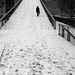 On the snowy footbridge by pascalcolin1