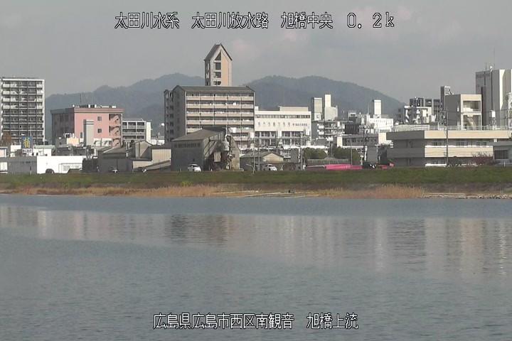 牛朱別川旭橋上流左岸CCTV(旭川市常盤通)河川 …