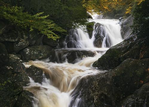 walker falls waterfall northcarolina water stream rocks autumn fall blue ridge mountains