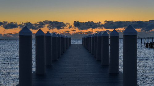 barnegatbay newjersey water pier sunrise dawn