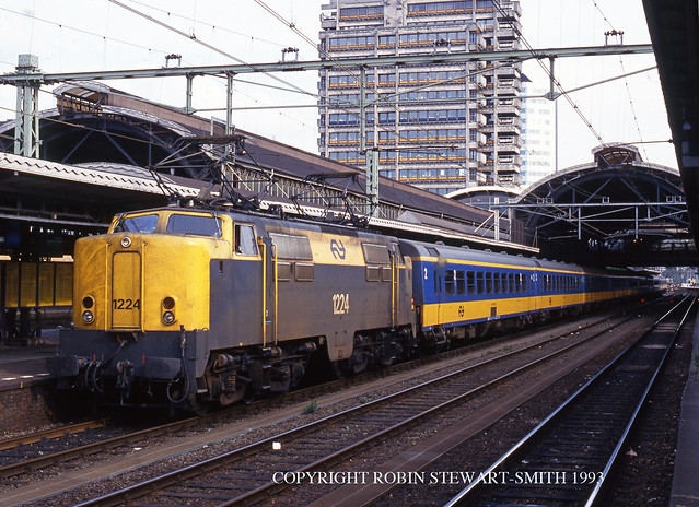NS Class 1200 No 1224 calls at Utrecht Central Station on 4th August 1993