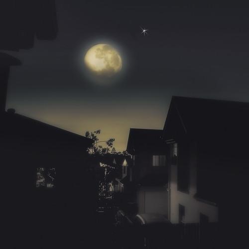 landscape suburbs ruralscape winter cityscape suburbanlandscape moon