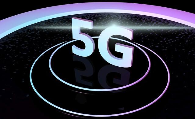 5G Standard - auf Podest