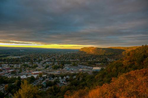 mountain landscape sunrise portjervis newyork ny autumn fall port jervis