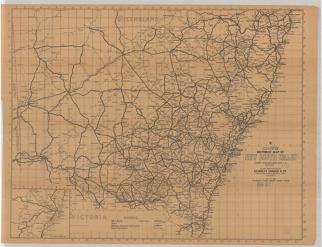 A9082 - Craigie's motorist map of New South Wales showing main motoring roads and mileages / compiled, drawn and published by Kenneth Craigie & Co