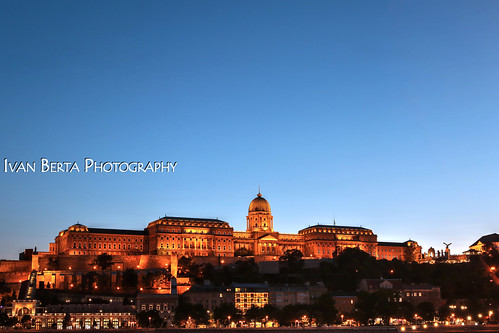 europe europa hungary hungaria buda budapest castle view evening dark blue orange city town building architecture summer holiday free time lights