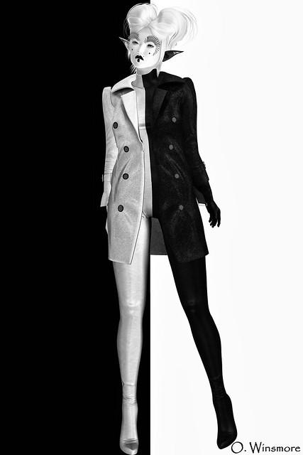 David-Heather - Love Catsuit Half & Trenchcoat