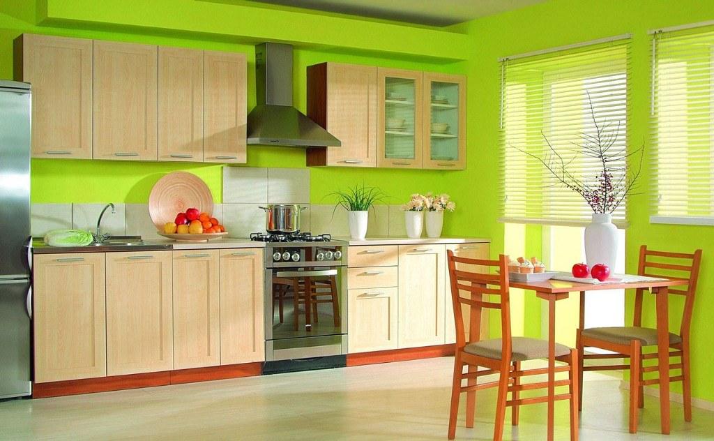 Apple green kitchen design