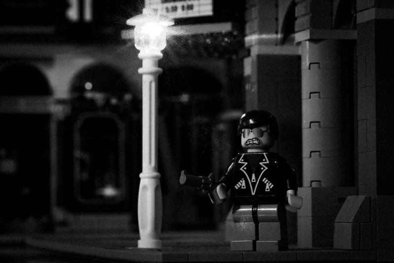 LEGO film noir street scene