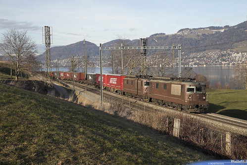 Re 4.4 185 + Re 4.4  188 BLS Cargo .  Kumm . 26.01.19 .